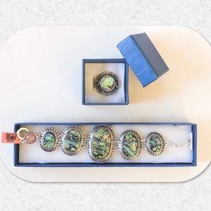 Jewelry - Abalone Shell Bracelet/Ring Set